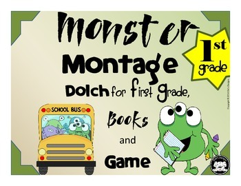 Dolch 1st Grade Words Monster Montage Game and Book