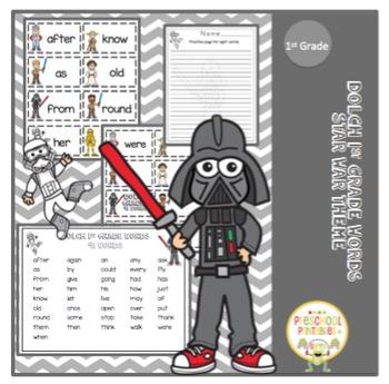 "Dolch 1st Grade Words ""Star War Theme"""