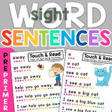 Dolch 220 PrePrimer Sight Word Sentences
