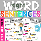 Dolch 220 PrePrimer Sight Word Sentences