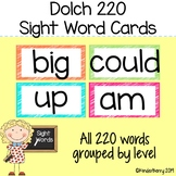 Dolch 220 Sight Word Cards Word Wall Cards