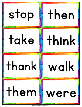 Dolch 220 Sight Word Flash Cards & Chart