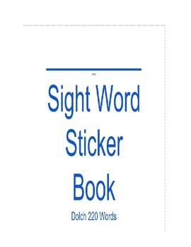 Dolch 220 Sight Word Sticker Book