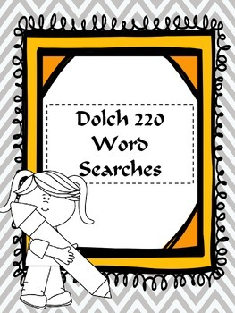 Dolch 220 Sight Word Word Searches