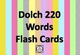 Dolch 220 Sight Words Flash Cards