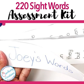 Sight Words Assessment Kit