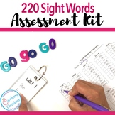 Dolch Sight Words Assessment Kit with 220 Words Sorted by