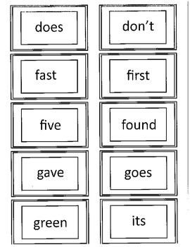 Dolch 2nd Grade Flash Cards