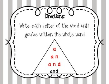 Dolch 2nd Grade Pyramid Writing Practice **FREEBIE**