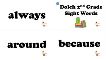 Dolch 2nd Grade Sight Word Flash Cards
