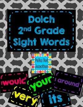 dolch 2nd grade sight word flash cardsword wall cards