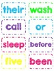 Dolch 2nd Grade Sight Word Flash Cards/Word Wall Cards in White