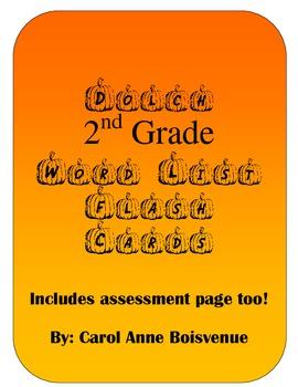 Dolch 2nd Grade Sight Word Pumpkin Flash Cards Halloween