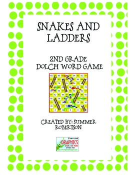 Dolch 2nd Grade Snakes and Ladders Word Game