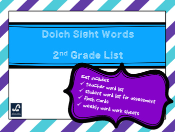 Dolch 2nd Grade Weekly Sight Word Work