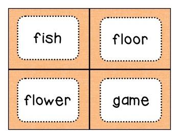 Dolch Noun Flashcards