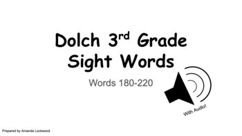 Dolch 3rd Grade Google Digital Flashcards with AUDIO