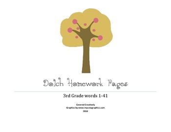 Dolch 3rd Grade Homework Pages