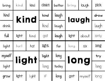 Dolch 3rd Grade Sight Word Clip Around Cards