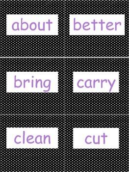 Dolch 3rd Grade Sight Word Flash Cards {FREEBIE}