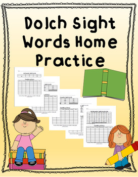 Dolch 3rd Grade Sight Word Home Practice EDITABLE