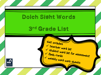 Dolch 3rd Grade Weekly Sight Word Work