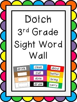 Dolch 3rd Grade Word Wall