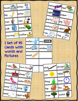 Dolch 95 Nouns Picture and Word Flashcards