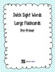 Dolch All Grades and Nouns Sight Word Large Flashcards