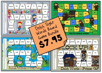 Dolch Board Game *BUNDLE* ON SALE!