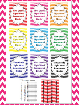 Dolch Chevron 1st Grade Sight Word High Frequency Words Tracking System