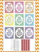 Dolch Chevron 2nd Grade Sight Word High Frequency Words Tracking System