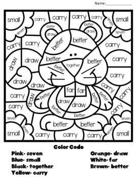 Dolch Color-By-Code Third Grade-Seasons Edition