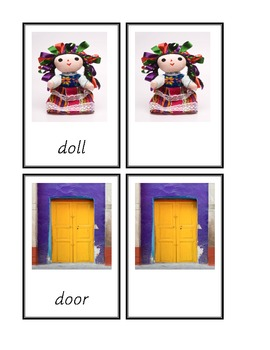 Dolch Common Nouns D-G 3-part cards