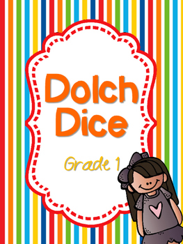 Dolch Dice- Grade 1 {Sight Word Dice}