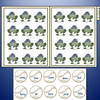 Sight Word File Folder Games: Baseball Frog Flippin Fun!