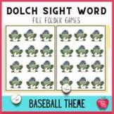 File Folder Games: Sight Word Baseball Frog Flippin Fun!