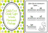 Dolch First Grade 1 Sight Words Homework Package Folder