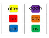Dolch First Grade Candy Land Sight Words
