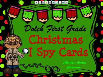 Dolch First Grade Christmas I Spy Cards
