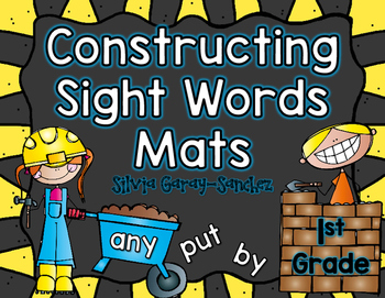 Dolch First Grade Constructing Sight Words  Mats