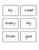 Dolch First Grade Flash Cards