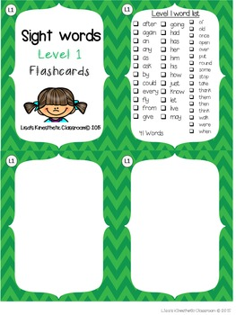 Sight Word Flashcards: First Grade