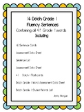 Dolch First Grade Fluency Sentences, Flashcards and Assess