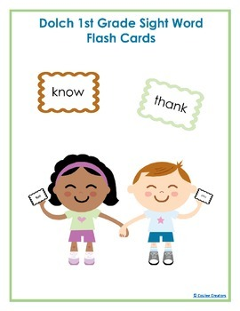 Dolch First Grade High Frequency Sight Word Vocabulary Flash Cards
