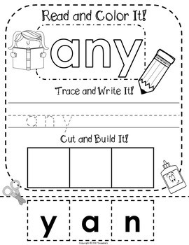 Dolch First Grade Read Trace Write and Build a Word Worksheets