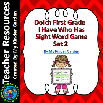 Dolch 1st Grade Set 2 I Have Who Has Sight Word High Frequency Words Game