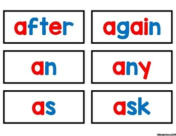 Dolch First Grade Sight Word Cards
