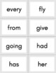 Dolch First Grade Sight Word Flashcards