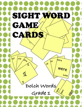 Dolch First Grade Sight Word Game Cards